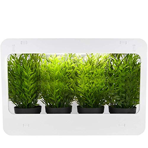 PrimeMatik - Kit di crescita delle piante per uso interno con luce LED bianca 850 lm 14W