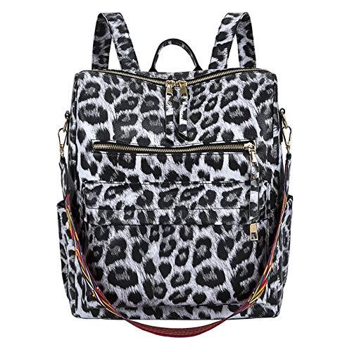 Fashion Leopard Damen Rucksack Mädchen Damen PU Leder Geldbörsen Reise Schultertasche Utility To Use