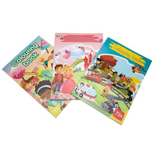 Libro Colorear Cuaderno para Pintar para Niñas y Niños a partir de 1 Año. Libros de Colorear Grandes. Pack de 3 Cuadernos Infantiles para Pintar. Manualidades Creativas y Divertidas