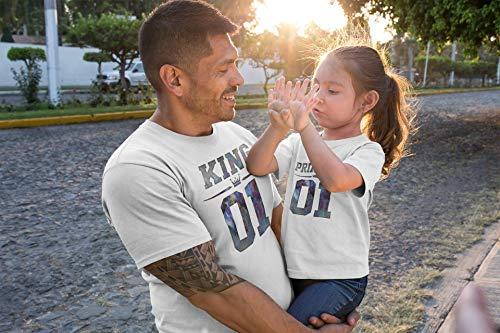 King - Prinzess Partnerlook T-Shirt Set | Papa Tochter Partnerlook | pickNstick ©
