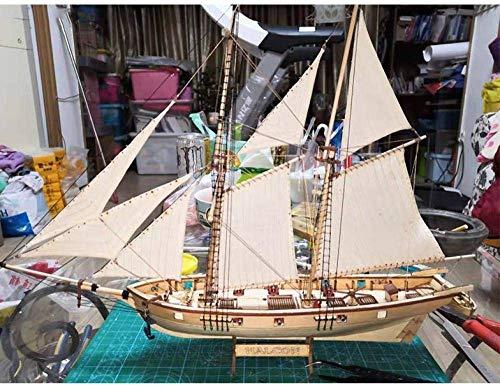 MA Maquetas De Barcos para Construir para Adultos, Escala 1:96 Kit De Maquetas De Veleros Maqueta De Barco De Ensamblaje De Madera Maqueta Clásica De Veleros DIY Regalos para Niños