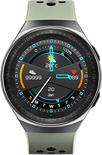 Reloj inteligente de 1,28 pulgadas BT Music Call Pulsera de presión de frecuencia cardíaca Multi-Sport Científico sueño Recordatorio sedentario Grabación de voz IP67 Impermeable-Rojo-Verde