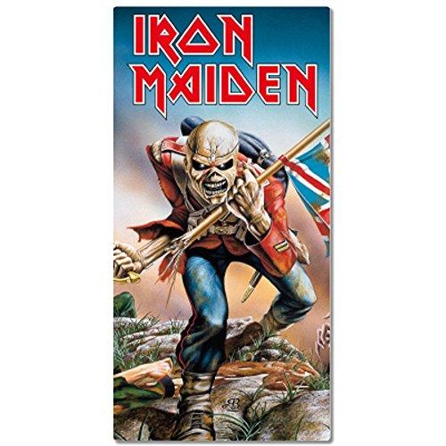 Toalla de playa con diseño de Iron Maiden, 75 x 150 cm