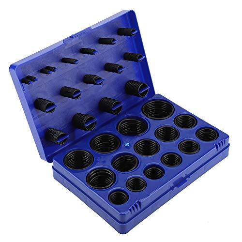 TOPINCN Juego de Juntas tóricas Sellado Anillos de Goma Resistentes a la abrasión para automóviles Reparación de vehículos Conjunto de Surtido de Sellado de tuberías con Estuche(Azul)