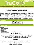 Klebefolie 10 x DIN A4 transluzent Matte - Druckerfolie, klebend, zum Bedrucken, Reissfest, Wetterfest, Wasserfest für Laserdrucker Kopierer Farblaser Farbkopierer