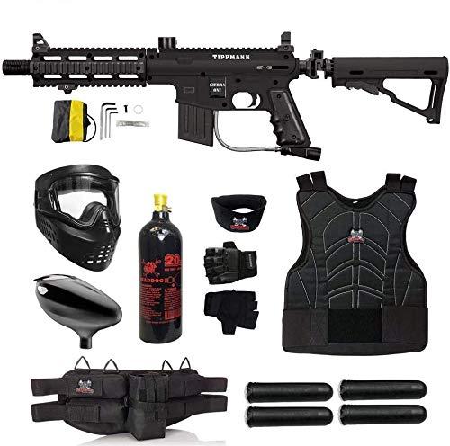 Maddog Tippmann Sierra One Starter Protective CO2 Paintball Gun Package - Black