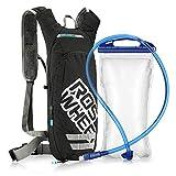 outlife Hydration Rucksack Trinkrucksack mit 2.5L Trinkblase Fahrradrucksack Nylon Wanderrucksack