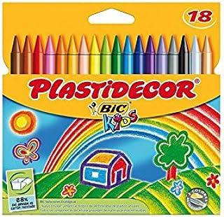 Plastidecor - Estuche con 18 Ceras de Colores