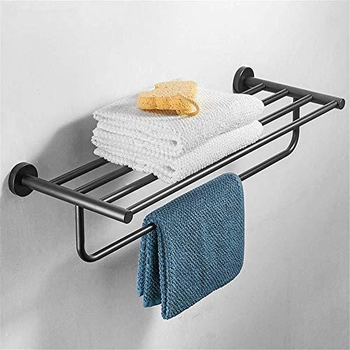 accessori bagno cestino bagno Portasciugamani in acciaio inossidabile nero portasciugamani quadrato a parete placcatura portasciugamani-Modelli neri