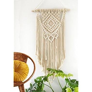 Labhanshi Macrame Wall Hanging Tapestry - BOHO Chic Home Decorative Wall Decor - Bohemian Dorm Art Decor - Living Room Bedroom Decorations