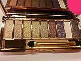 DISAAR BEAUTY 9 Colors Glitter Eyeshadow Eye Shadow Palette & Makeup Cosmetic Brush Set NEW (#03)