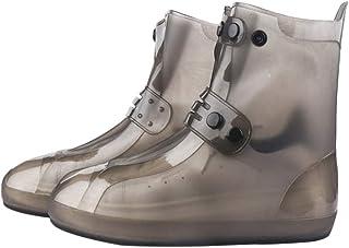 LGQ-HW レインブーツ、防水レインブーツ、ユニセックスローブーツ、ダブルブレスト、滑り止め、シームレス、厚手レインブーツ、雨の日、旅行(2個) (色 : グレイ ぐれい, サイズ さいず : XXL)