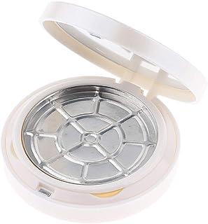 F Fityle パウダーケース 化粧鏡 2層 空ケース 2色選べ - 白