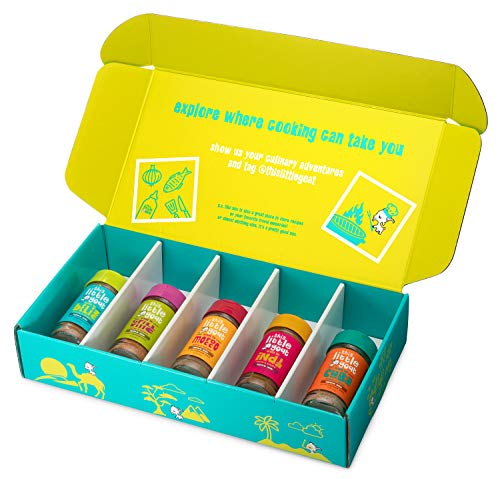 This Little Goat Cooking Set (Spice Kit - 5 Count) - Marinade, Rub, and Herb Seasoning Set - Great for BBQ, Chicken, Meat, Fish, Gifting - Created by Top Chef Stephanie Izard for Home Kitchens