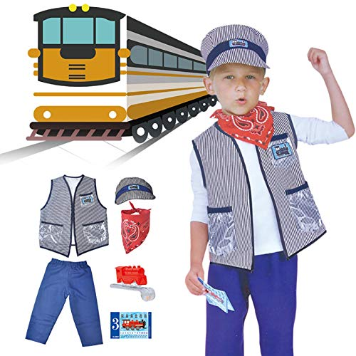 gilivableskr Costumes Baby's Train Engineer Toddler Costume Children's Day Clothing Props With Cap And Accessories Perfect Children's Day Gift For Your Children efficiently