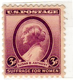 Postage Stamps United States. One Single 3 Cents Dark Violet Susan B. Anthony Issue Stamp Dated 1936, Scott #784.