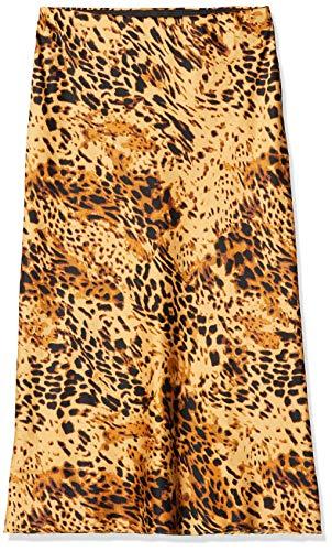 SIMPLY BE Vrouwen Rok Ladies Leopard Print Satin Column Midi Skirt