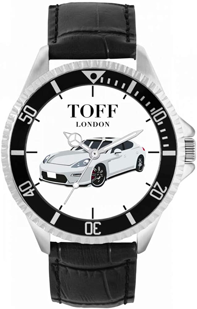 Toff London Mens Watch Gift for Fans Panamera security of Silver Genuine Free Shipping Porsche