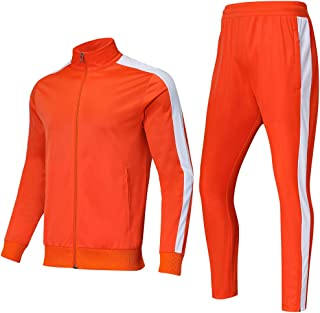 Mens Tracksuit Set Sports Gym Training Suits Sportswear Sets with Full Zipper for Men