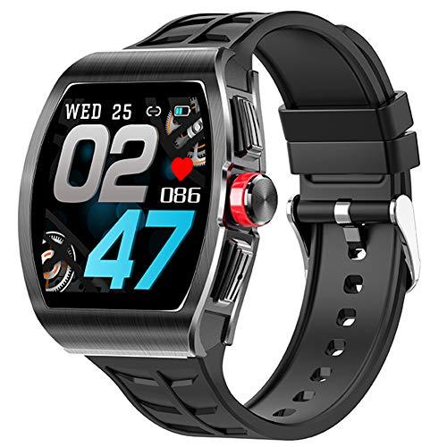 YGMDSL Smart Watch Women Men Fitness Tracker 1.4 Pulgadas Toque Full Touch Monitor Monitor Bluetooth Llamada SmartWatch Pulsera Actividad Fitness Tracker (Black)