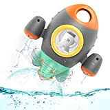 HEMRLY Space Rocket Toddler Bath Toys, Rotating Spray Water Baby Bath Toy for Babies Infants...