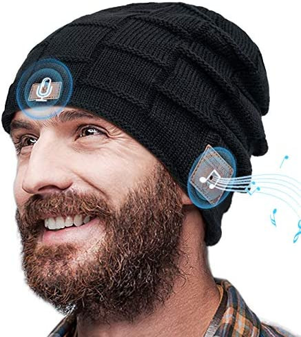 Voice Control Bluetooth Beanie Bluetooth Hat with AI Gift for Men Bluetooth 5 0 Wireless Beanie product image