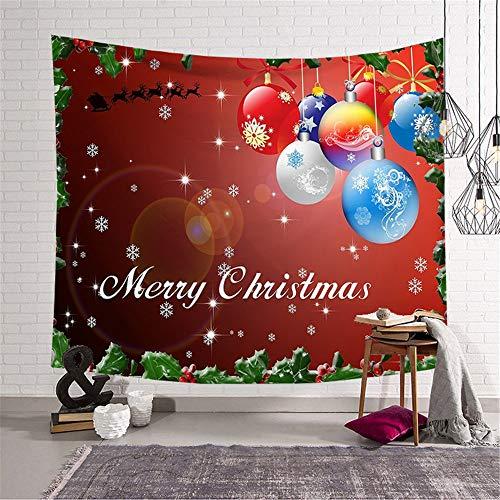 YUNSW Weihnachtstapisserie Mikrofaserdruck Hängender Stoff Hintergrund Stoff Wandband Deckestranddecke Weihnachts Schmuck
