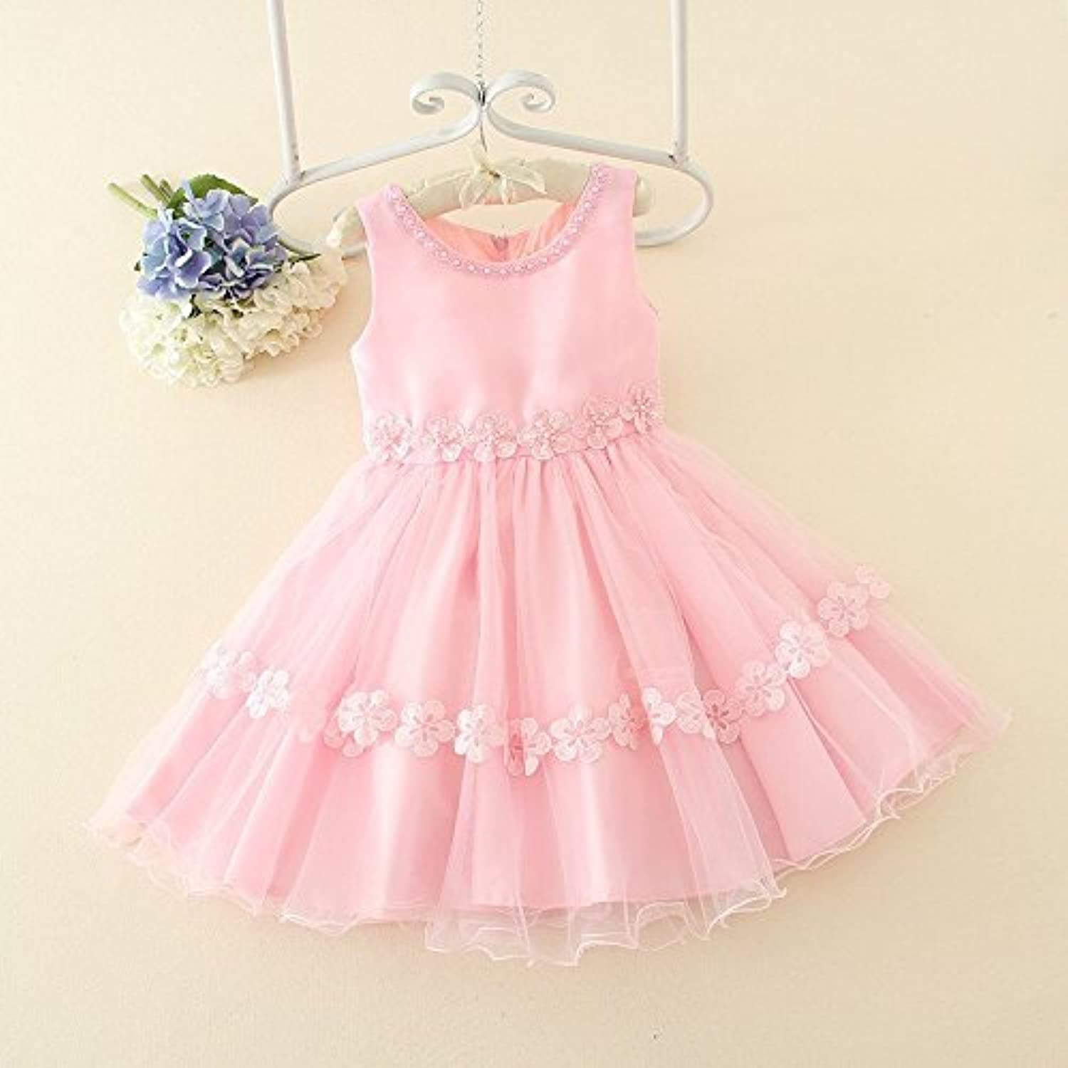 Puff Dress_Korean New Soft Yarn Beaded Puff Dress