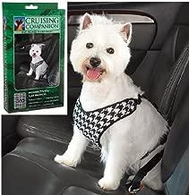 Cruising Companion Houndstooth Dog Car Harness, X-Small, Black