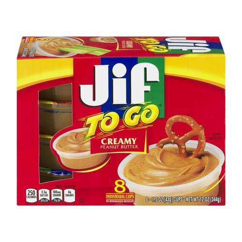 Jif to Go Peanut Butter 15 Oz 8/Box Pack of 2