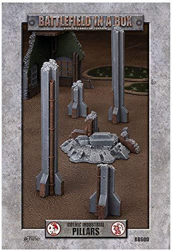 Campo de batalla en una caja pilares industriales góticos