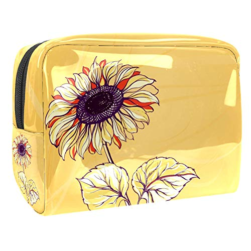 Luggage Cosmetic Cases Elegant Flowers Portable Travel Makeup Cosmetic Bags Organizer Multifunction Case Toiletry Bags for Women 7.3x3x5.1in