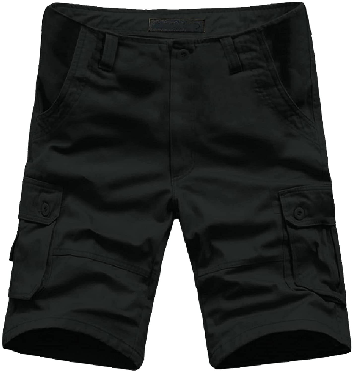 PHSHY Cargo Shorts for Men Summer Outdoor Hiking Work Trousers Capri Pants Casual Elastic Waist Big and Tall Shorts