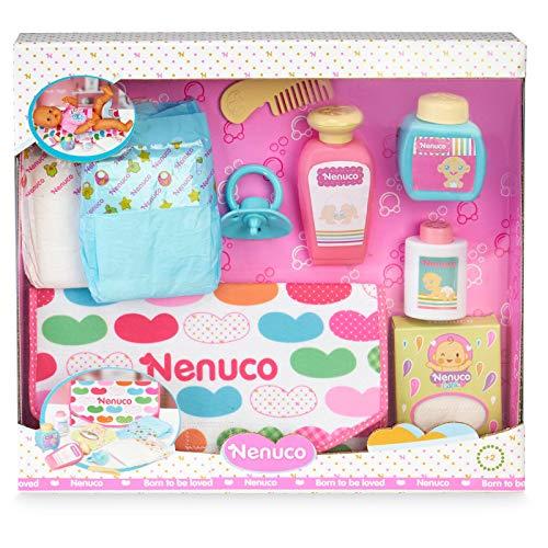 Nenuco-Bolso Cambiador, Accesorios para Cambiar pañal a muñeco, Regalo Ideal para niñas y niños a Partir de 3 años(Famosa 700016293)