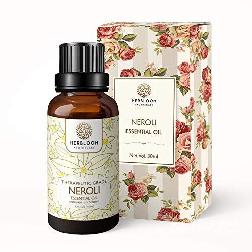 Herbloom, olio essenziale di Neroli, rilassa e concilia il sonno, idrata la pelle, 100% puro e naturale, grado terapeutico - Neroli, 30 ml