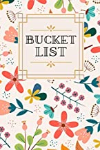 Bucket List: 109 pages   Cream Paper   6x9 Size   Soft Matte Cover   bucket journal   Pre-filled notebook   Planner   Live Without Regrets   Bucket ... Life   Journal To Do Before You Die   Dreams