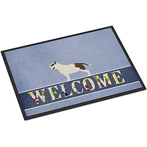OUSHENGMAOYI Alfombra Resistente A La Abrasión,Felpudo De Bienvenida Bull Terrier 60X40Cm Multicolor