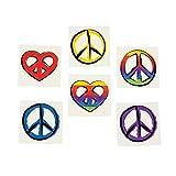 Peace Sign Temporary Tattoos (6 dz) - Retro Party Favors