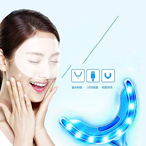 NanXi Teeth Whitening Kit Zahnbleaching Gel, Effektive Zahnreinigung Und Pflege Professionelles Zahnaufhellung Set,wiederverwendbares Home Bleaching Kit Für Weisse Zähne,Blau