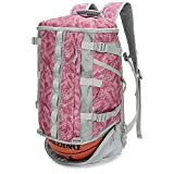 TRAILKICKER 26L Basketball Backpack with Ball Compartment, Shoe Bag, Padded 17' Laptop Compartment, Office-to-Gym Bag, Perfect for Soccer, Volleyball, Swim and Badminton, RED