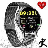 Smartwatch Deportes Impermeable - Reloj Inteligente con Corriendo Pulsómetro Cronómetro Monitor de Sueño Podómetro Control Música Camara, Pulsera Fitness Tracker para Hombre Mujer Niño