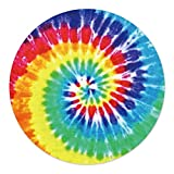 Round Blanket, Throw Blanket for Adults and Kids, Tie Dye Rainbow Whirlpool Circle Blanket Swaddle Wrap Blanket, Fleece Soft Warm Novelty Blanket for Home Sofa Bed Couch Travel, 60Inch