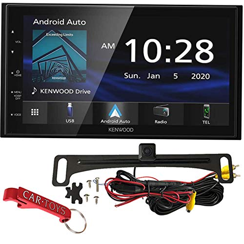 Kenwood DMX4707S 6.8' Multimedia Receiver Safe Driver's Bundle with Voxx Backup Camera. Apple CarPlay, Android Auto, Car Stereo with Large Capacitive Display, Bluetooth, SiriusXM Ready (No CD).