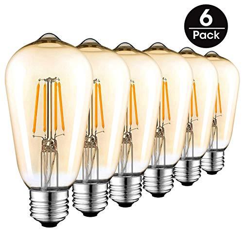 Ampoule LED Edison Vintage (4w, 6-pack)