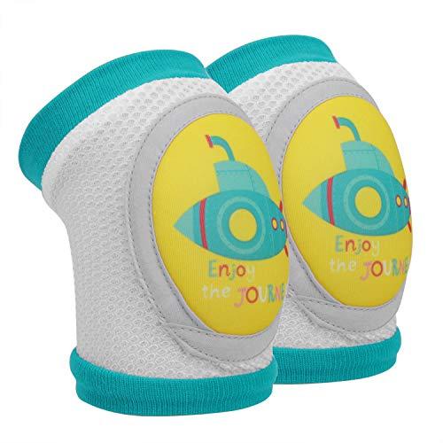 Baby Knieschoner Baumwolle Netz Krabbelknieschoner Kinder Knieschützer Knie Ellenbogen Pads kriechen Sicherheit Schutz Kleinkinder Mädchen und Jungen für 2-5 Jahre (U-Boot-Muster)