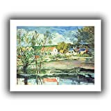 ArtWall 'in The Oise Valley' Unwrapped Canvas Artwork by Paul Cezanne, 18 by 22-Inch