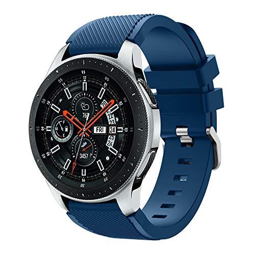 Baohooya Correa de Reloj para Samsung Galaxy Watch 46mm - Moda Sports Pulsera de Reloj - Repuesto Liberación Rápida Banda de Reloj para Hombre Mujer