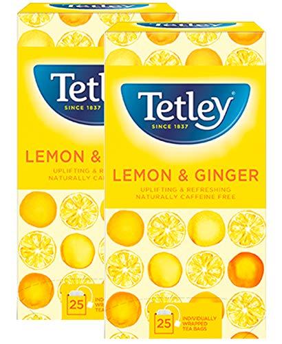 Lemon Ginger 2 Pack 20 Tea Bags Fruit Herbal Coffeine Free Natural