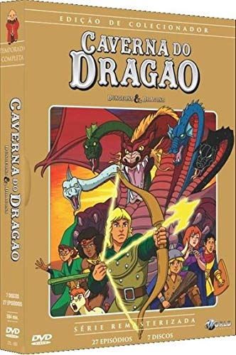 Box Caverna Do Dragão 7 Discos 27 Episódios Ed Colecionador