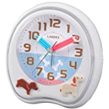 ランデックス(Landex) 目覚まし時計 アナログ パークタイム 6曲メロディーアラーム ホワイト YT5219WH